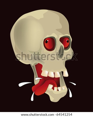 Hungry skull Raster version - stock photo
