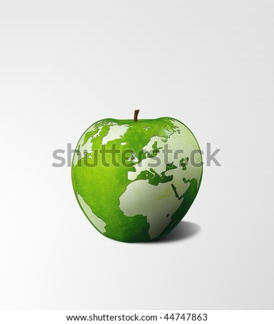 hungry world - stock photo