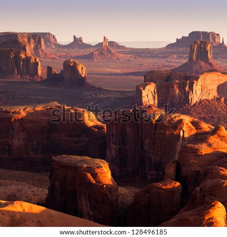 Hunt's Mesa, Monument Valley - stock photo