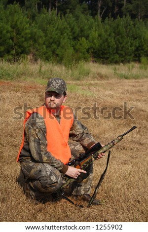 Hunter Hunting - stock photo
