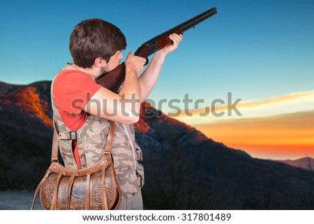 hunter with his rifle