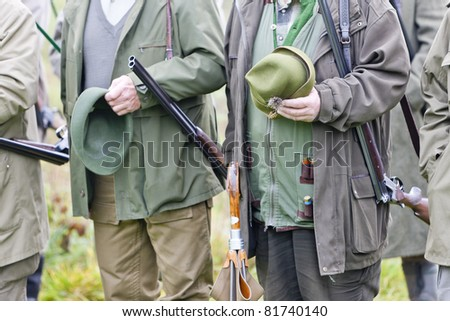 hunters - stock photo