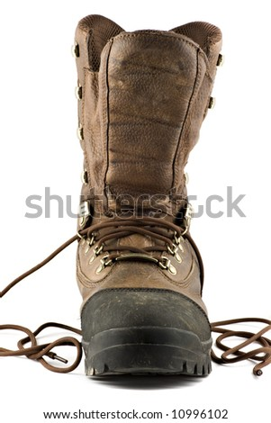 Hunting boot isolated on white background - stock photo
