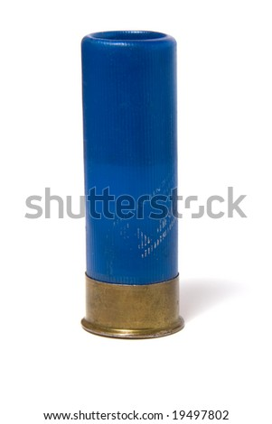 hunting  cartridge isolated on white - stock photo