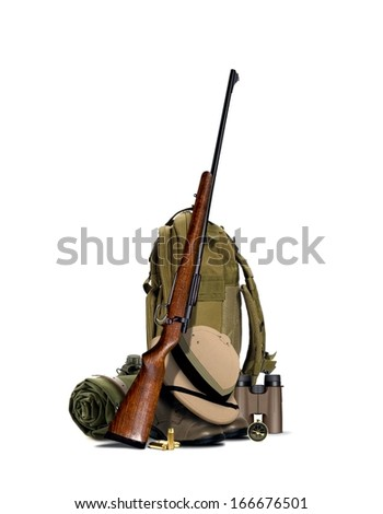 Hunting Equipment - stock photo