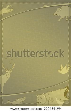 Hunting & fishing Blank - stock photo