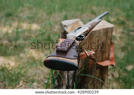 hunting items. hunting concept. hunting background. - stock photo