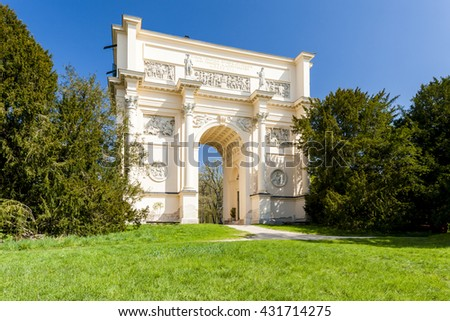Hunting lodge Rendezvous - Temple of Diana, Czech Republic - stock photo