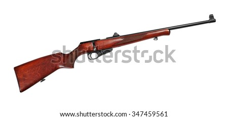 Hunting repeating rifle .22 Long Rifle. Isolated on white background - stock photo