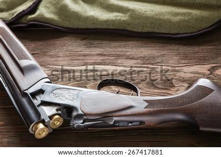 hunting rifle - stock photo