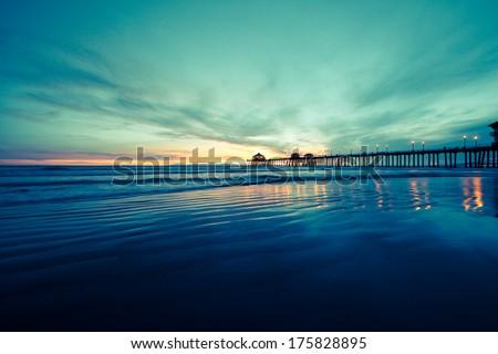 Huntington Beach  - stock photo