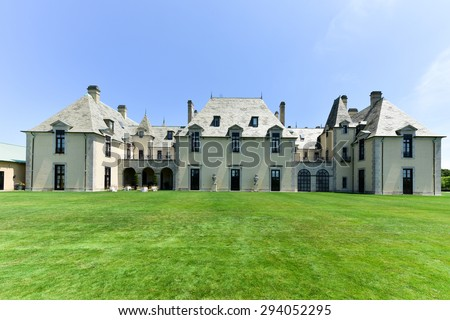 Huntington, New York - July 3, 2015: Oheka Castle in Huntington, New York. One of many among the Gold Coast Mansions of Long Island.