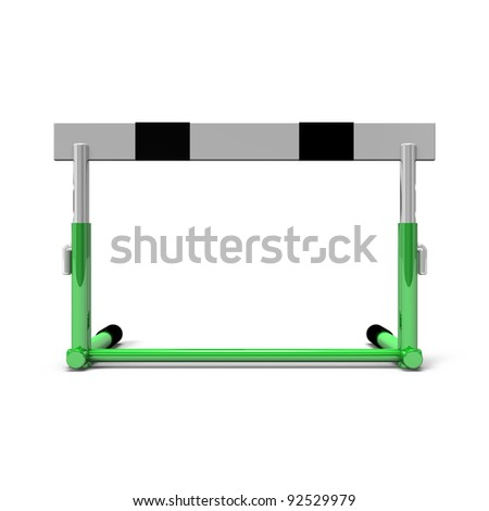 hurdle front view - stock photo