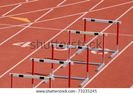hurdles - stock photo