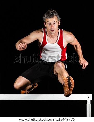 hurdling in track and field