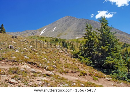 Huron Peak, Sawatch Range, Rocky Mountains, Colorado - stock photo