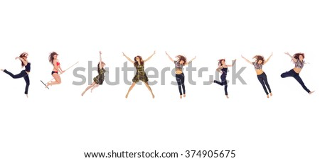 Hurray to Athlets Isolated over White