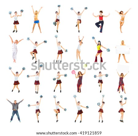 Hurray to Winners Isolated over White  - stock photo