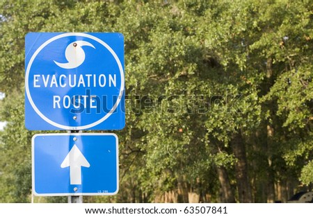 Hurricane Evacuation Route in the Southern United States. - stock photo
