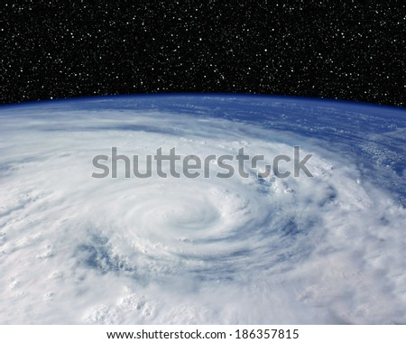 Hurricane from space!  - stock photo