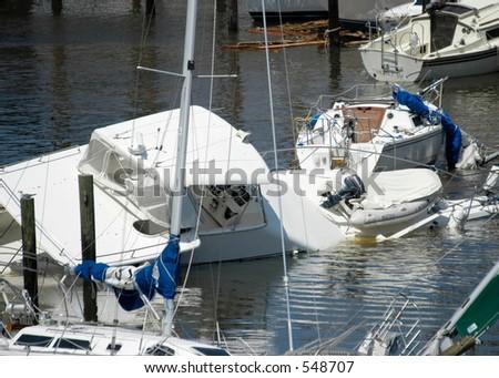 Hurricane Katrina 4 - stock photo