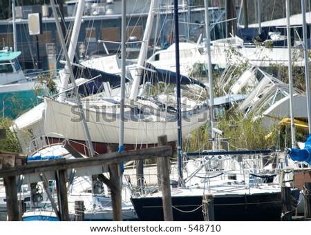 Hurricane Katrina 7 - stock photo