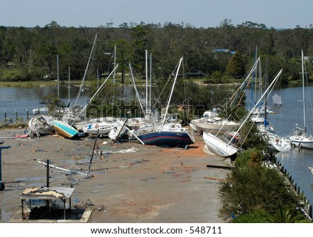 Hurricane Katrina 8 - stock photo