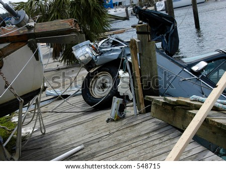 Hurricane Katrina 15 - stock photo