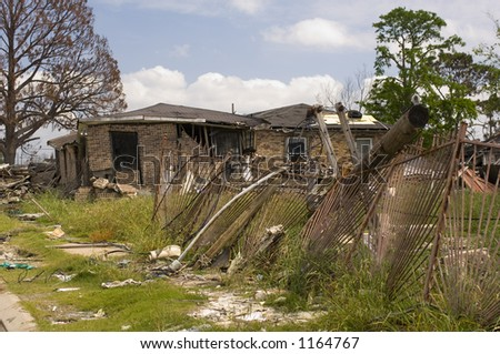 Hurricane Katrina damage - lower 9th ward - New Orleans, LA