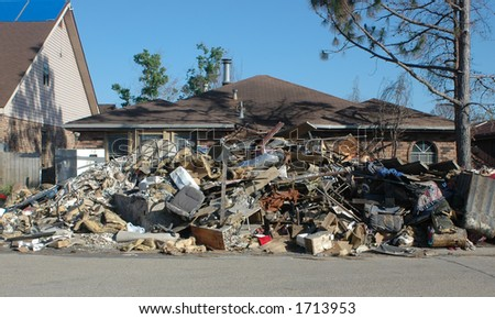 Hurricane Katrina One Year Later - stock photo