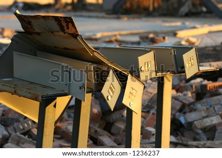 Hurricane Katrina storm damage. - stock photo