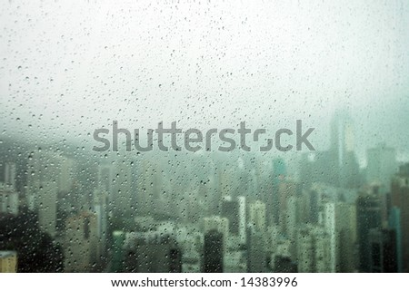 Hurricane over Happy Valley, Hong Kong - stock photo