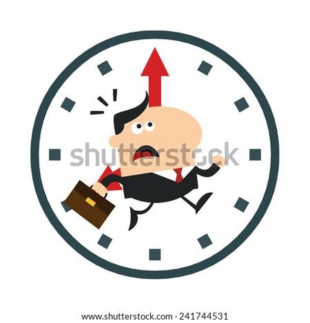 happy manager giving feedback modern flat stock illustration 241533700 shutterstock. Black Bedroom Furniture Sets. Home Design Ideas