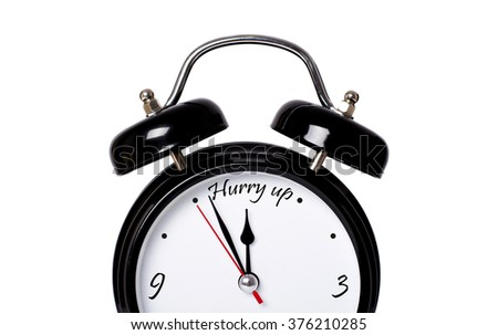 Hurry up - concept - stock photo