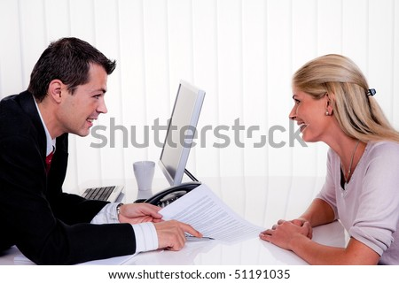 Husband and wife during a consultation