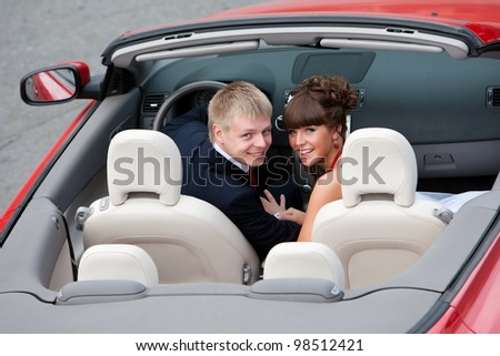 husband and wife pair of sweethearts - stock photo