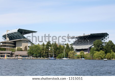 Husky stadium, Seattle - stock photo