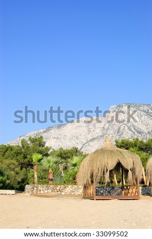 Hut on the beach, Antalya, Turkey