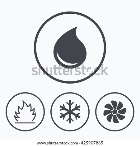 hvac fan icon. hvac icons. heating, ventilating and air conditioning symbols. water supply. climate control hvac fan icon