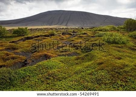 Hverfjall - Iceland - stock photo