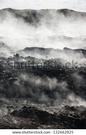 Hverir in Iceland - stock photo