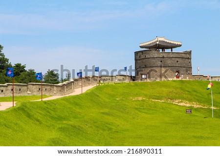 Hwaseong Fortress - stock photo
