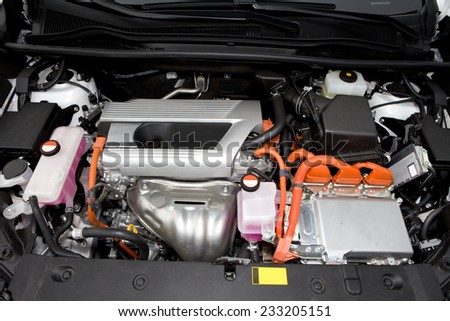 Hybrid car engine.