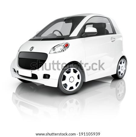 Hybrid 3D Car - stock photo