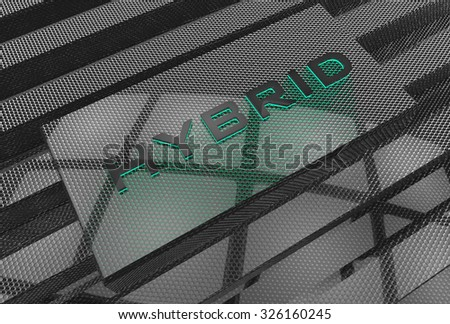 Hybrid engine Cover - stock photo