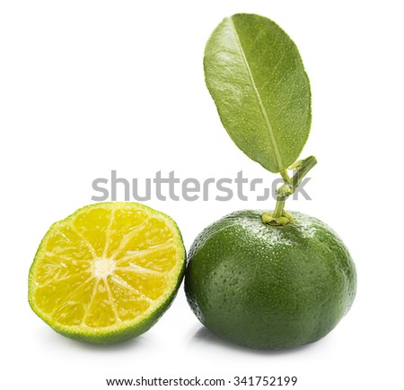 Hybrid Kumquat Tangerine with Slice - stock photo