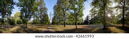 Hyde park in London in summer - stock photo