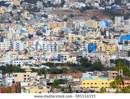 Hyderabad, INDIA - December 16 : Hyderabad is the fourth most populous city and sixth most populous urban agglomeration in India, on December 16,2015 Hyderabad, India - stock photo