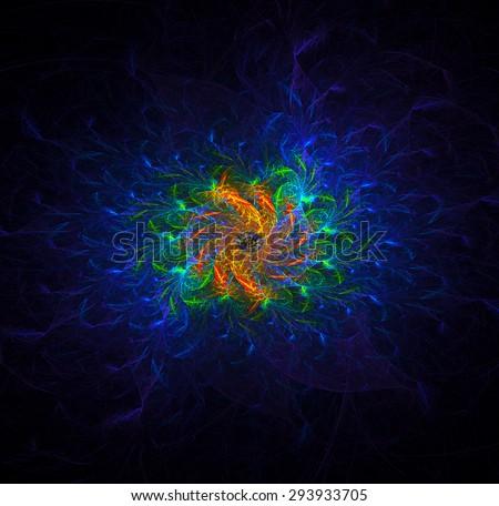 Hydra abstract illustration  - stock photo