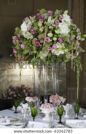 Hydrangea Floral Arrangement in Vase - stock photo